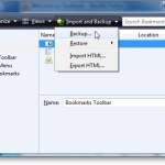 How to Backup and restore your Browser Bookmarks