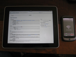 How to tether ipad using 3G phone