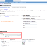Replace the default search box with Google search for adsense