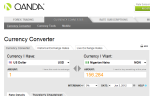 Convert currencies online using the Oanda currency converter