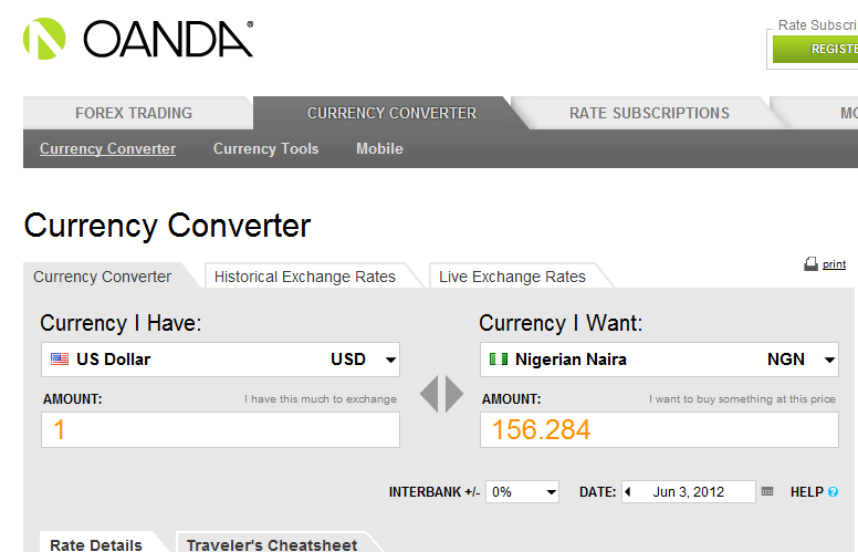 Currency Converter   OANDA online currency converter