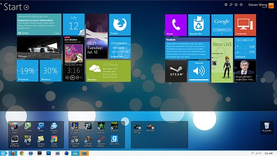 How to customize Microsoft Windows 7 Desktop to look like Windows 8