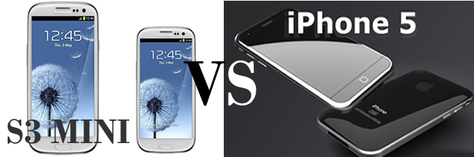 galaxys3 mini VS iPhone 5