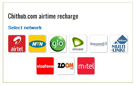Buy recharge cards online in nigeria at Chithub