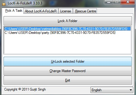 How to unlock a password protected a folder