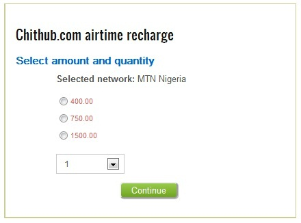 buy airtime at Chithub.com