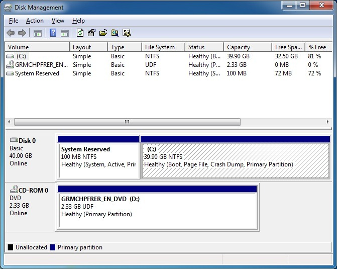partition hard disk
