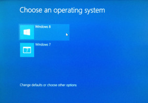 How to Dual boot a PC with Windows 8 and Windows 7