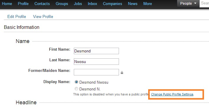 How to create a custom LinkedIn Profile URL