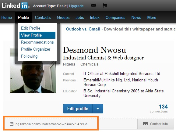 How to find LinkedIn profile URL