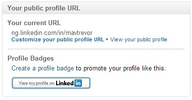 LinkedIn custom public profile URL