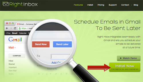 Right Inbox - Schedule emails in Gmail