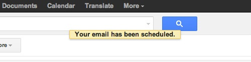 Right Inbox scheduled success