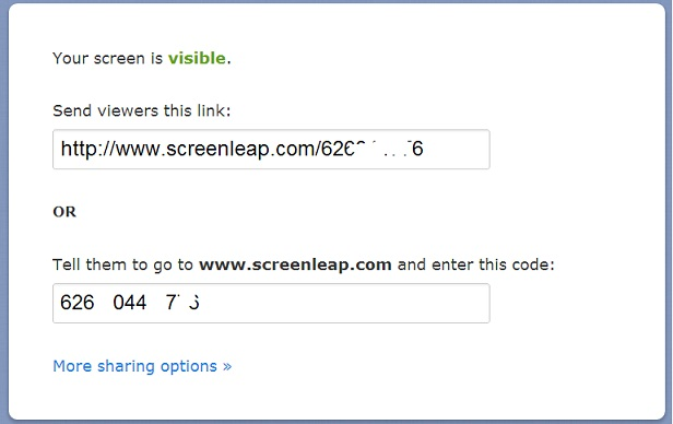Screenleap screen address
