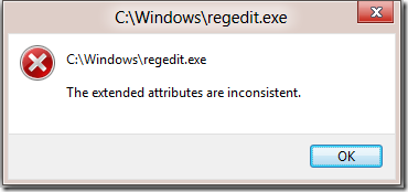 "Solved! How to fix ""The Extended Attributes are Inconsistent"" Error"