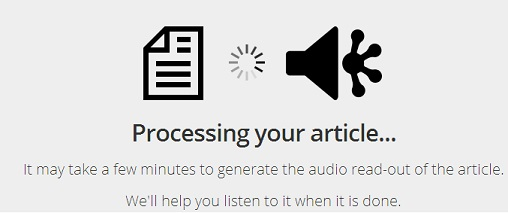 converting an article into mp3 using SoundGecko