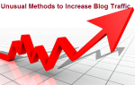 Unusual Methods to increase blog traffic in 2013