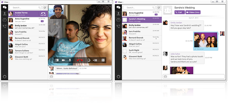 viber desktop for Windows and Mac