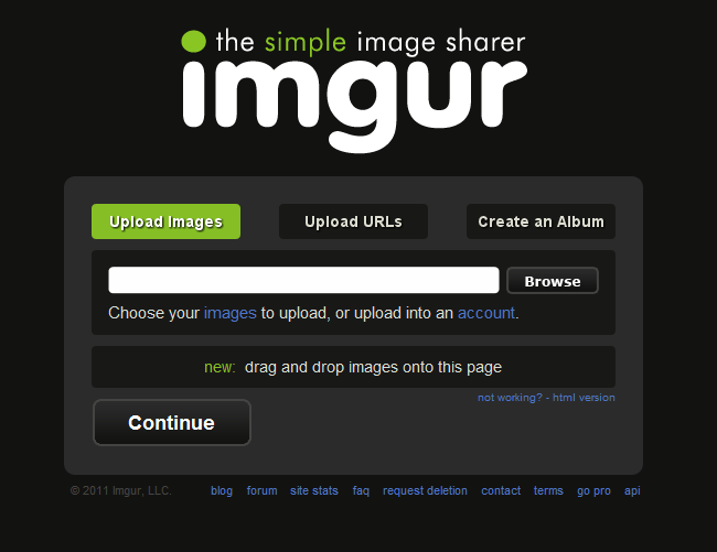 Imgur, free image hosting services