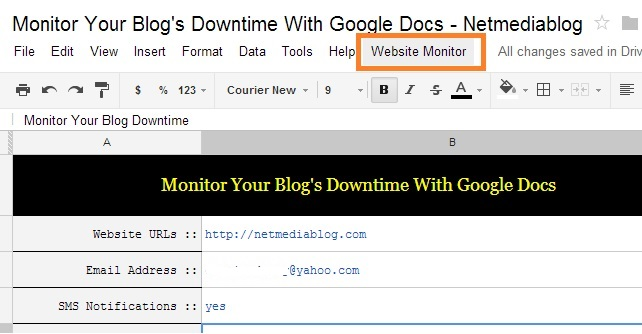 website monitor -  Monitor Blog Downtime