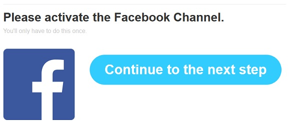 activate Facebook channel