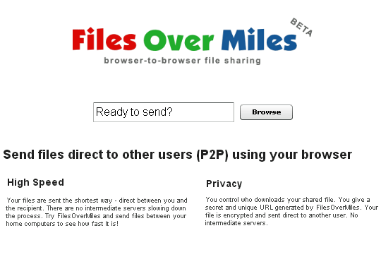 How to Transfer large files online with milesovermiles
