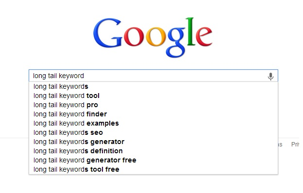 Long tail keywords, features and how to find one