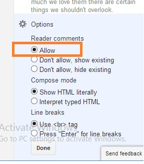how to fix Blogger Comment won't show