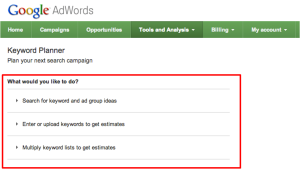 My challenges of using Google Keyword Planner