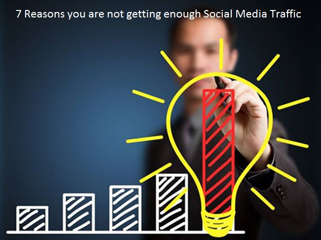 7 Reasons you are not getting enough Social Media Traffic