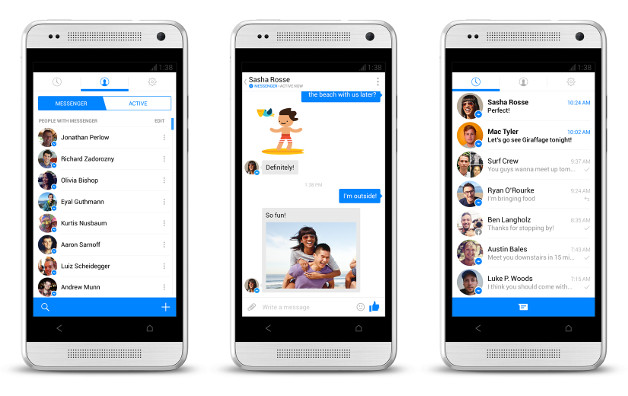 New Facebook Messenger sends messages with phone numbers