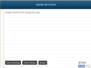 Google Chrome Voice Recognition app: Type with voice on Google Chrome