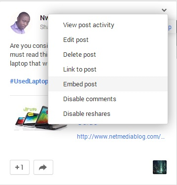How to Embed a Google+ Post