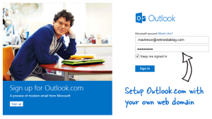 How to Setup Custom Domain Email on Outlook.com