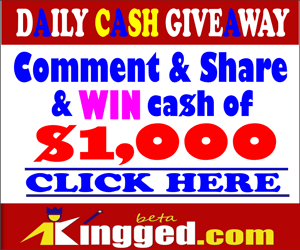 Kingged.com Giveaway – Earn $1000 commenting on and sharing posts