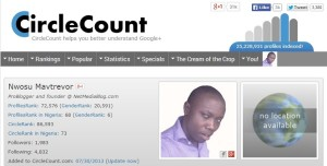 CircleCount – Analyze your Google+ Activities