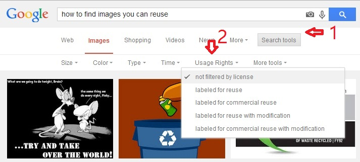 How to find images you can reuse on Google image search