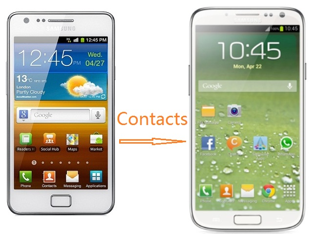 How to transfer Contacts from Samsung Galaxy S2 to Galaxy S4