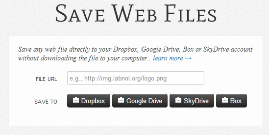 Save Files directly to the Cloud without downloading them