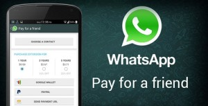 Whatsapp Pay for a Friend feature