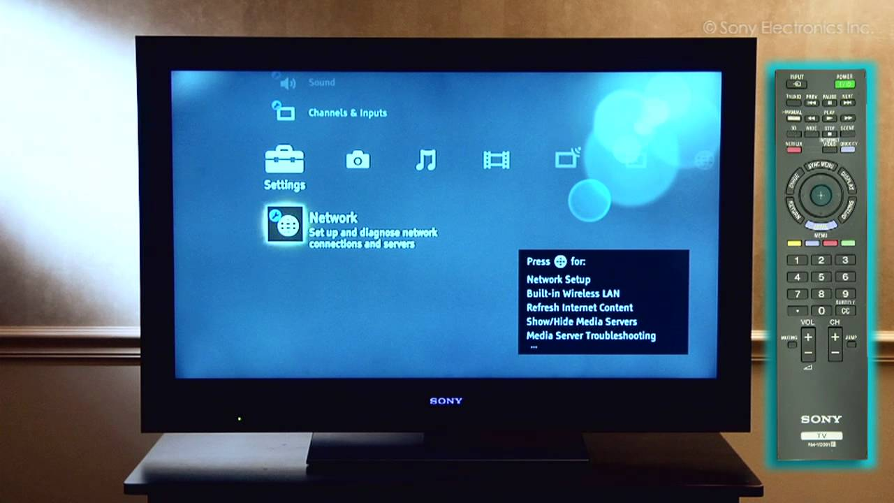 How to connect Sony Bravia TV to the internet