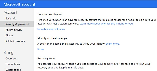 How to enable 2-step authentication for YahooMail, Gmail and Outlook