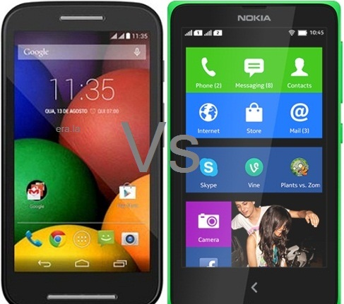 Moto E vs. Nokia X – Specification and Prices