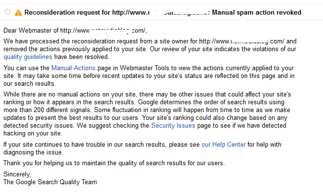 How I survived Google manual penalty for Unnatural outbound links