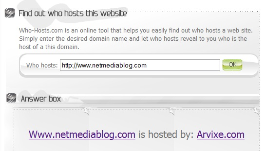 How to find who is hosting any website