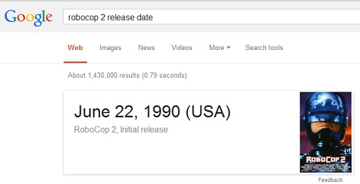 movie release date - Google Tricks