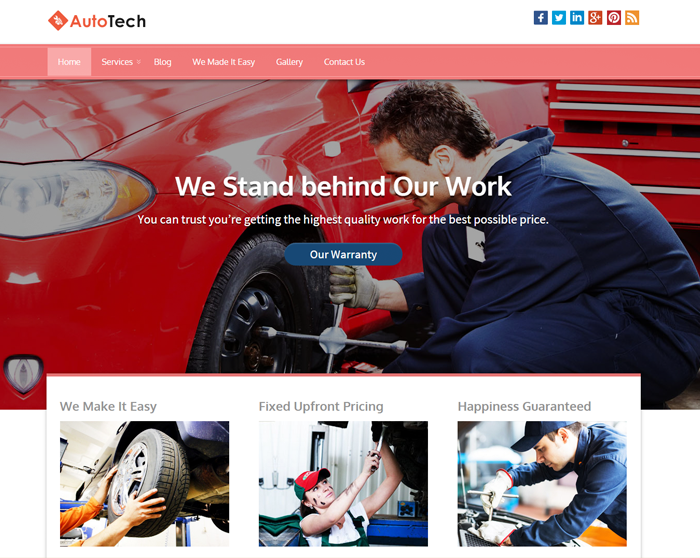 AutoTech WordPress Theme