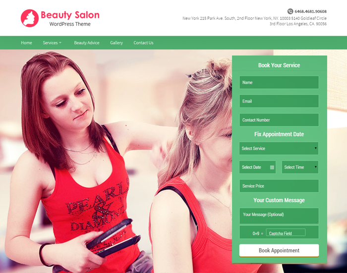 BeautySalon WordPress Theme