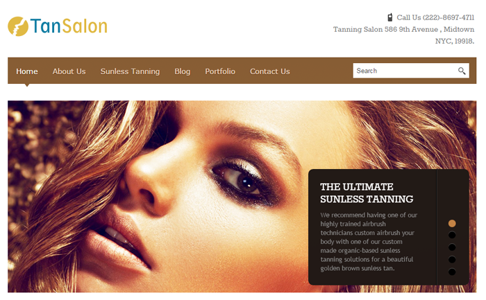 Salon WordPress Theme