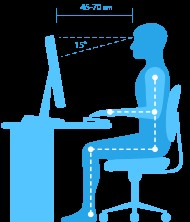 ideal computer sitting